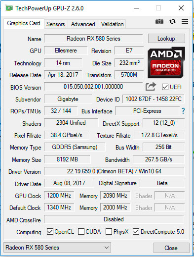 GPU-Z 2.6.0